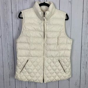 Talbots | ivory down quilted vest